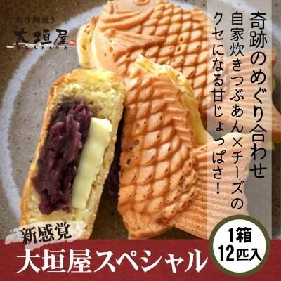 大垣屋スペシャル(つぶあん&チーズ 鯛焼き) 1箱(12匹入り) 【クール便...
