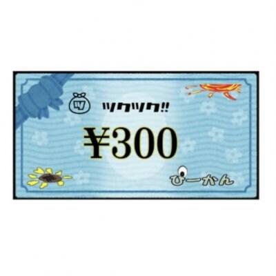 ぴーかん300円お買い物チケット(現地支払専用)