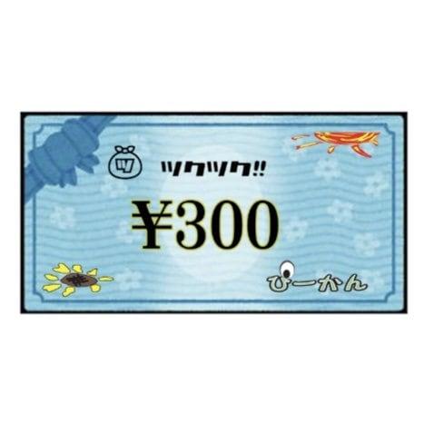 ぴーかん300円お買い物チケット(現地支払専用)のイメージその1