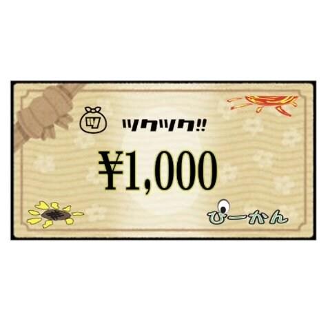 ぴーかん1,000円お買い物チケット(現地支払専用)のイメージその1