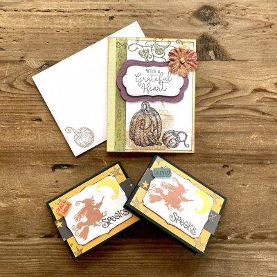 【全国送料無料 こだわりのカードセット10月】maricopainオリジナル手作りカード2種類 月替りデザイン
