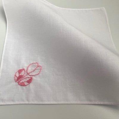 【送料無料】チューリップ 刺繍ミニハンカチ(20×20cm)