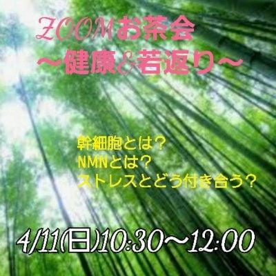 4/11(日)細胞レベルから若返ろうZOOMお茶会 ストレスとどう付き合う?