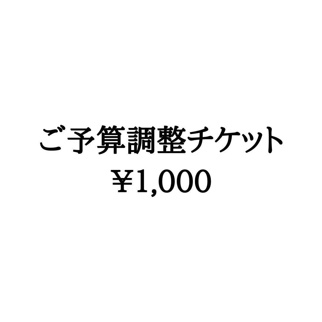 ご予算調整チケット1,000円のイメージその1