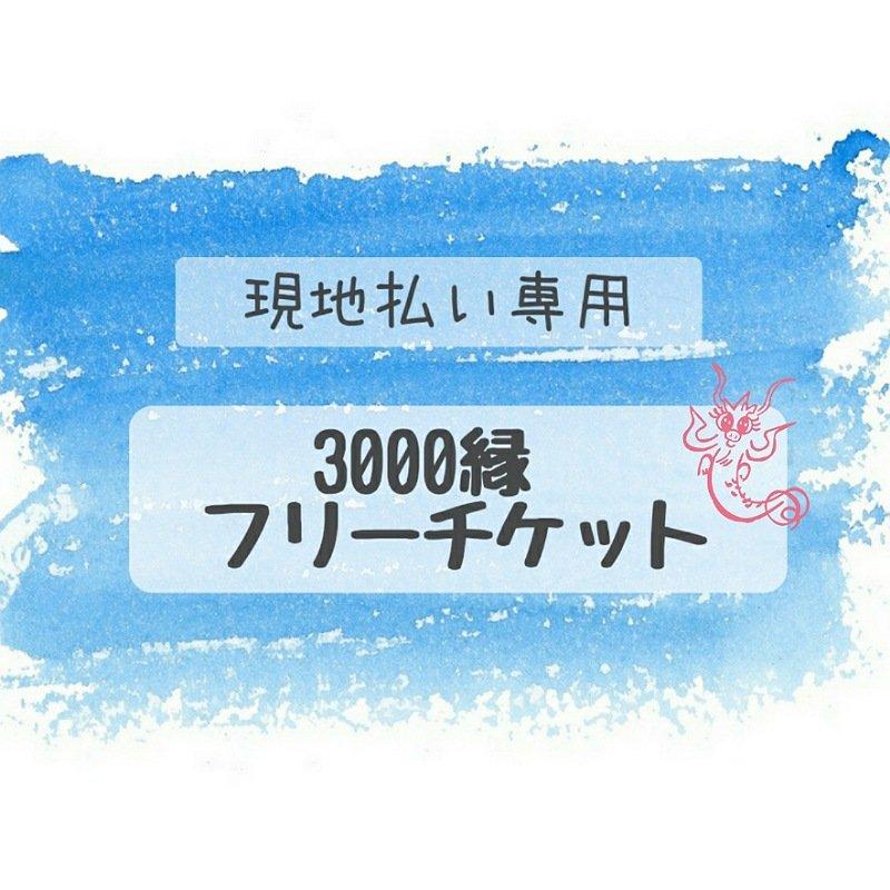 【現地払い専用】3,000yenフリーチケットのイメージその1