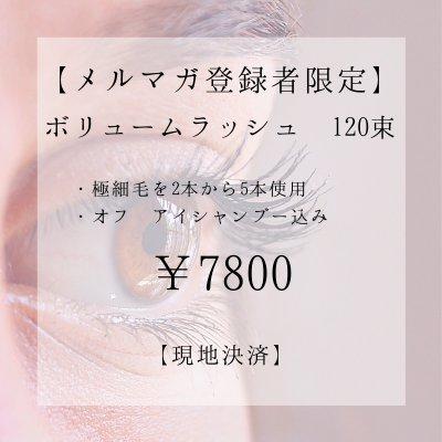 【メルマガ登録者限定】ボリュームラッシュ 120束