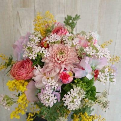 【春のおすすめ】春のピンクブーケ(来店受け取り・無料配達地域限定お...