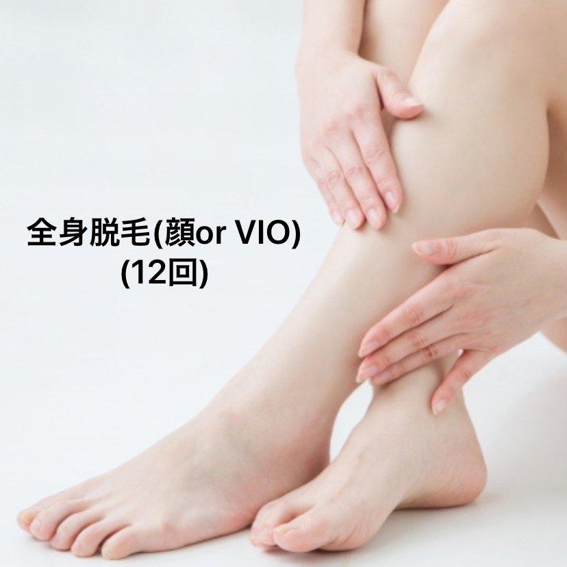 全身美肌脱毛(顔orVIO)12回のイメージその1