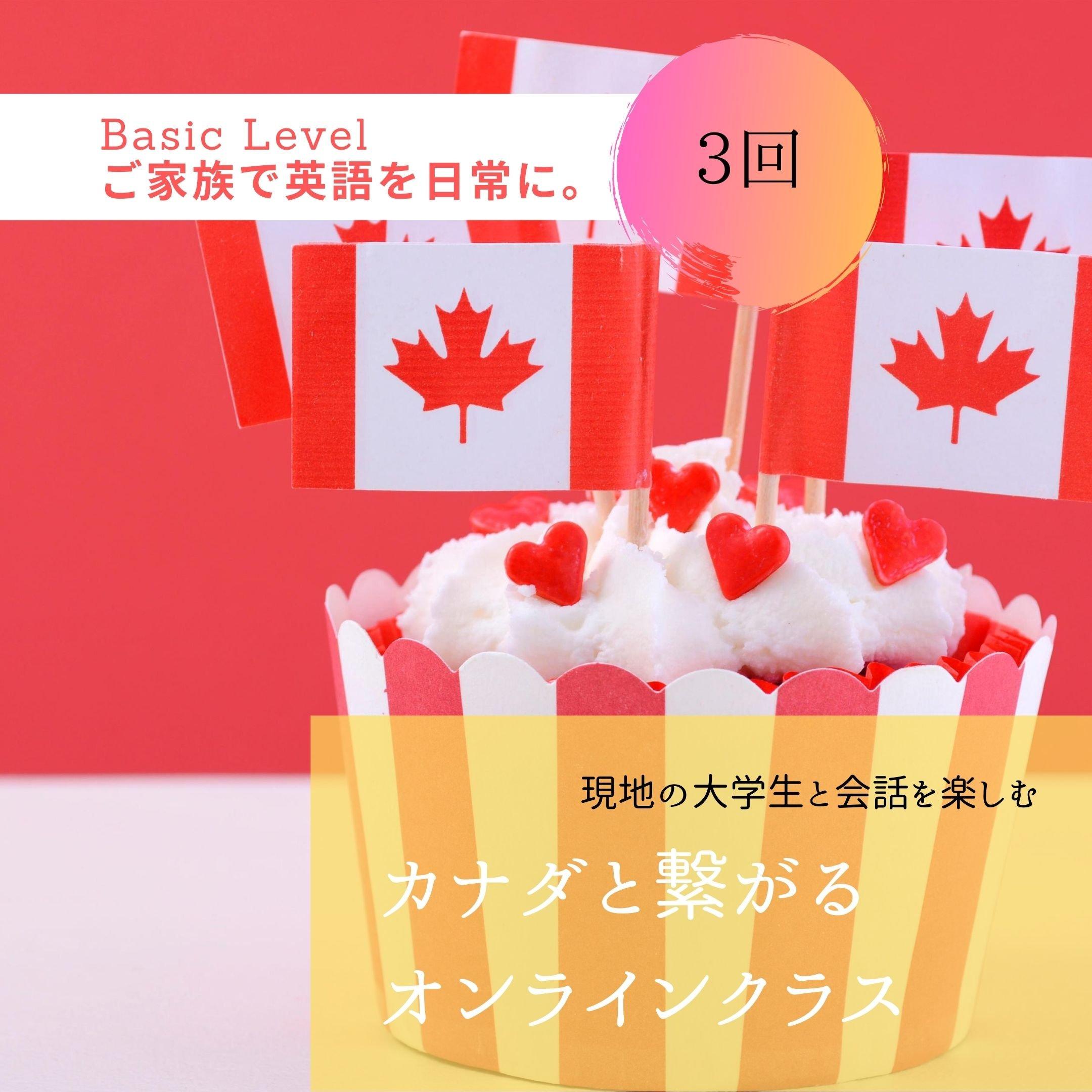 3回【Basic】カナダと繋がる英会話(8/17より毎週月・水・土の10時スタート)のイメージその1