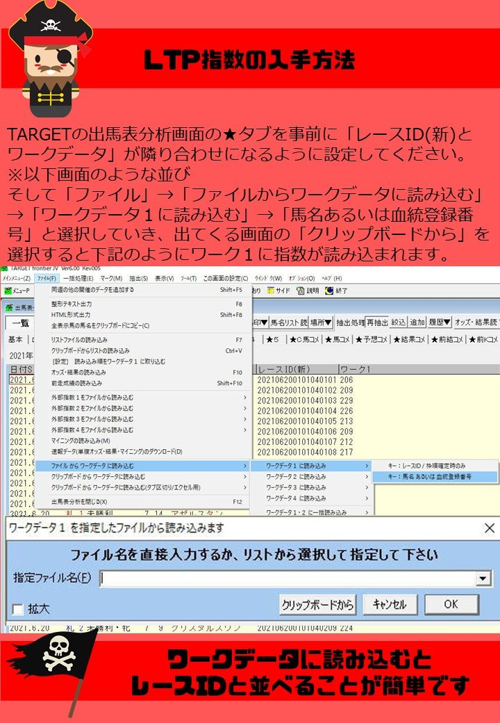 LTPirate〜LTP指数を持ち、馬券の海賊となれ〜のイメージその3