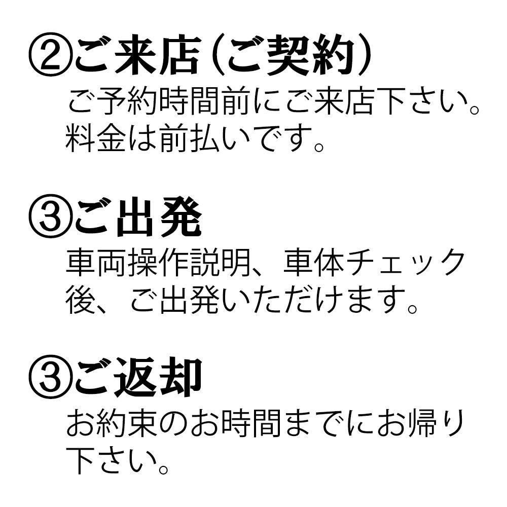 レンタカー【F:ファミリー】マンスリ−コース(1ヶ月)のイメージその3