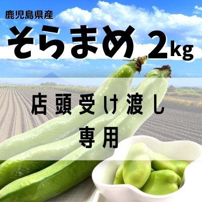 【店頭受渡し専用】【枕崎産】新鮮そらまめ2kg