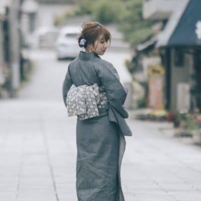 ◆【女性用】◆岡山デニム浴衣◆ブルー