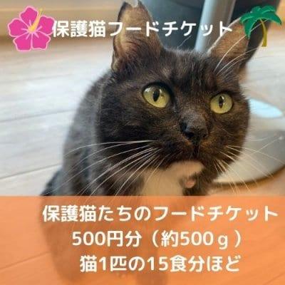 【保護猫ご飯支援】保護猫支援フードチケット 500G 約15〜20食分