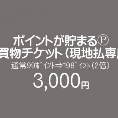 【現地払い専用】お買物チケット/3000円