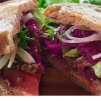 【現地払い限定】天然酵母のライ麦サンド(メキシカンタコミート) オーガニックフレンチフライ付き⭐︎