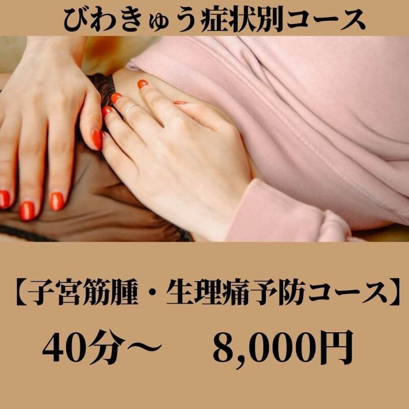 びわきゅう症状別コース【子宮筋腫・生理痛予防コース】のイメージその1