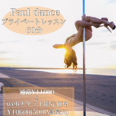 【対面】Pole dance/プライベートレッスン60分《高ポイント還元》