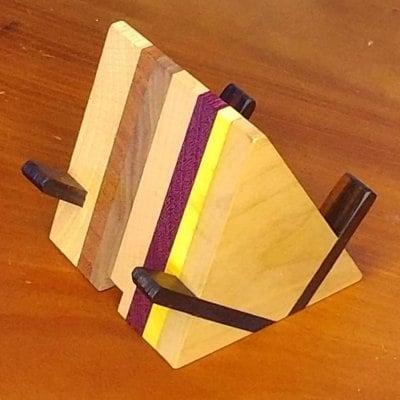 【手作り寄木小物】木製スマホスタンド SS02A