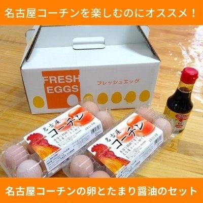 名古屋コーチンの卵とTKG用たまり醤油のセット 卵20個 たまり醤油150...
