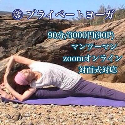 ③プライベートヨーガ/90分/3000円(90P)/マンツーマン/対面式/Zoomオンライン