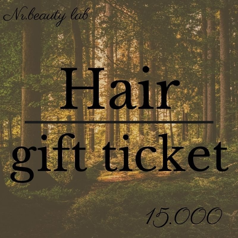 Hair gift ticket 15.000yenのイメージその1