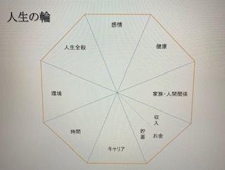 人生の輪を使った目標達成ファーストセッション(zoom)のイメージその1
