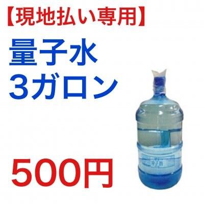 【現地払い専用】量子水3ガロンチケット