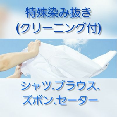 「クリーニング&特殊しみ抜き」シャツ・ブラウス・セーター・ズボン(送料お客様負担)