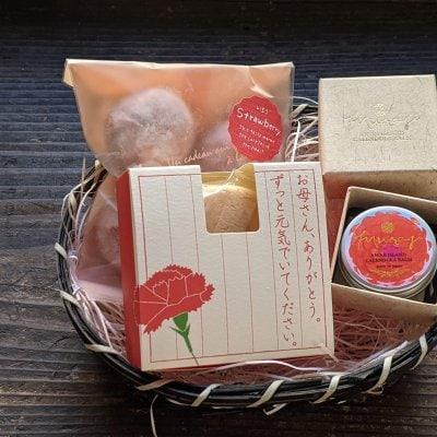 母の日ギフト/淡路島カレンデュラバーム「Muraji」&栄堂のお菓子セット