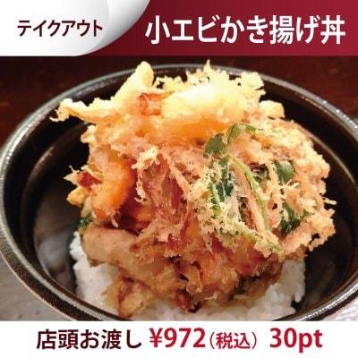 【テイクアウト】小エビかき揚げ丼