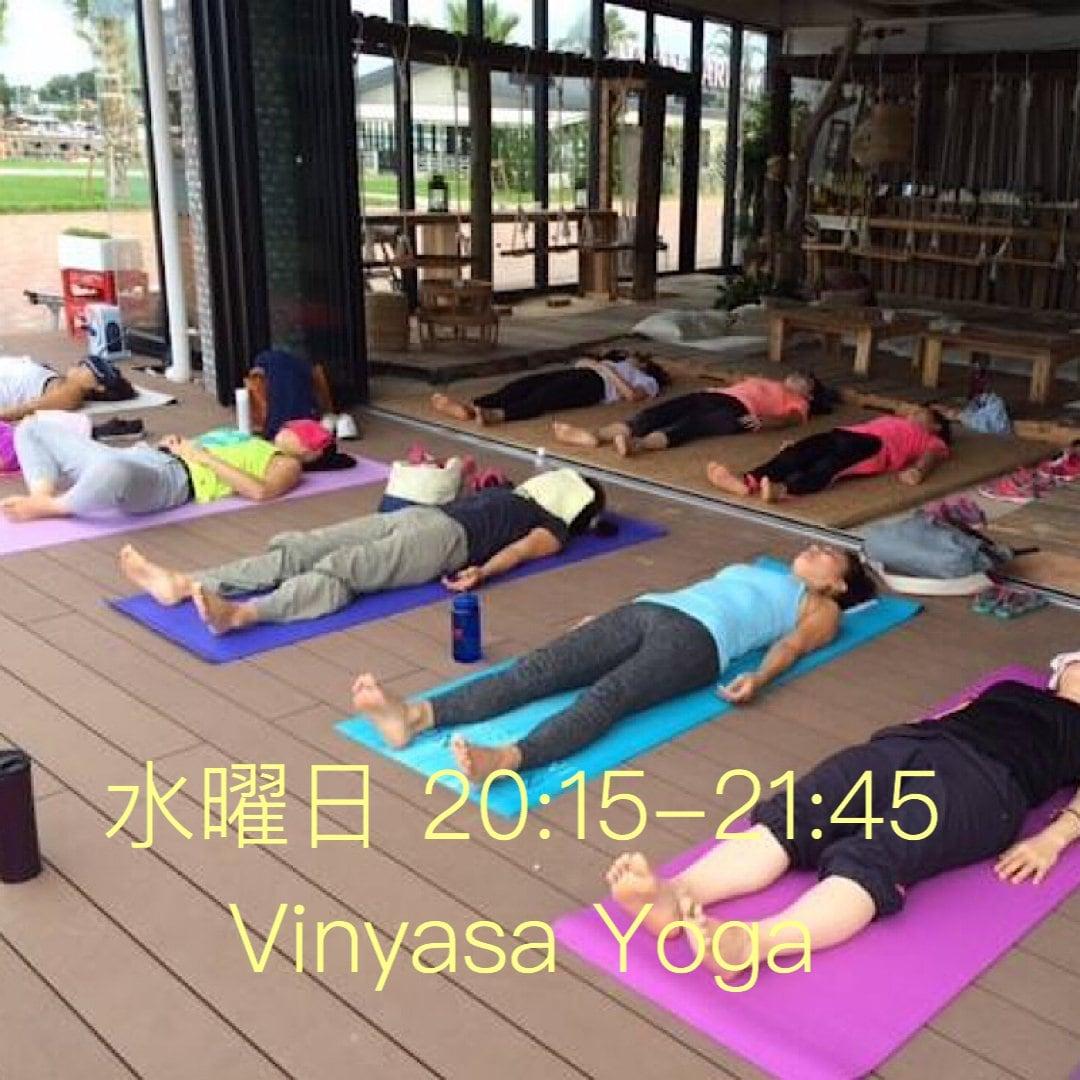 vinyasa yoga(ヴィンヤサヨガ)〜水曜日夜クラスチケットのイメージその1