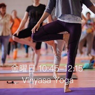 vinyasa yoga(ヴィンヤサヨガ)〜金曜日朝クラスチケット