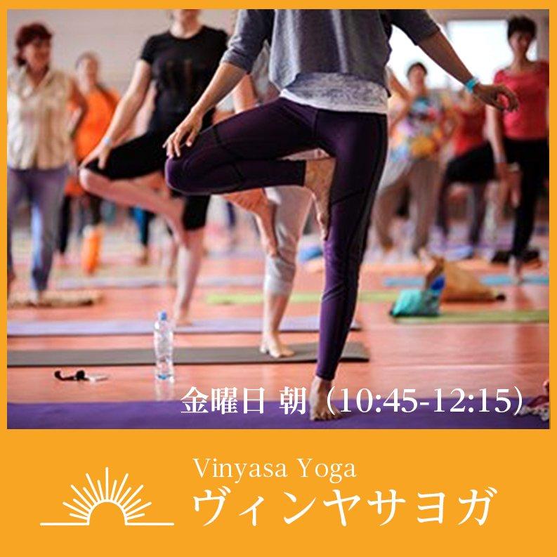 vinyasa yoga(ヴィンヤサヨガ)〜金曜日朝クラスチケットのイメージその1