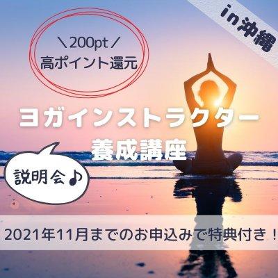 ヨガ・インストラクター養成講座説明会in沖縄〜高ポイント還元の説明会チケットです(オンラインも可)