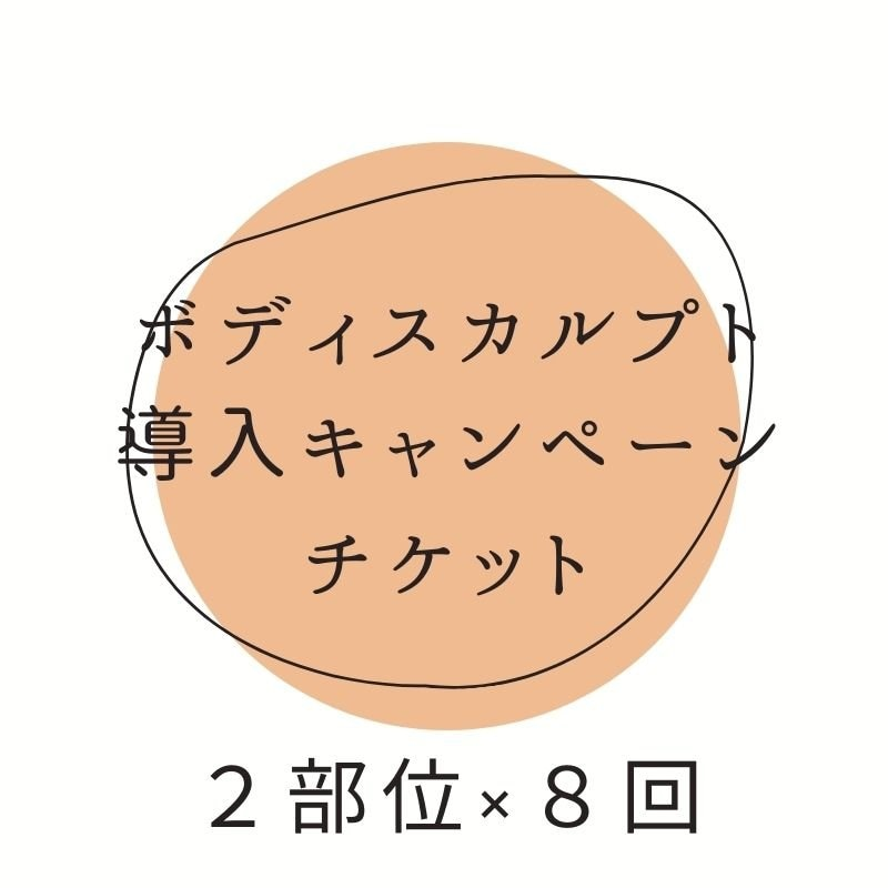 ボディスカルプト体験キャンペーン 2部位×8回 期間限定!アンラポール会員様特典②-bのイメージその1