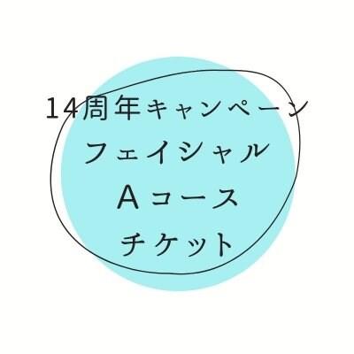 <現地払い専用>14周年キャンペーンフェイシャル<Aコース>  美顔フェイシャル80分 通常17,600円(税込)→14,000円(税込)
