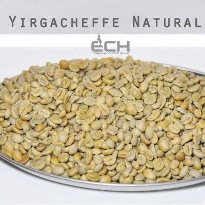 生豆1kg エチオピア イルガチェフェ ナチュラルG1【Ethiopian Coffee House】