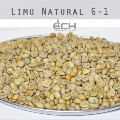 生豆1kg エチオピア リム ナチュラルG1【Ethiopian Coffee House】