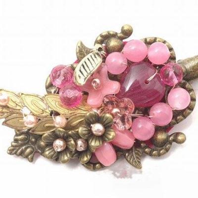 209F1-5 Pink leaf Brooch 6820円(税込)