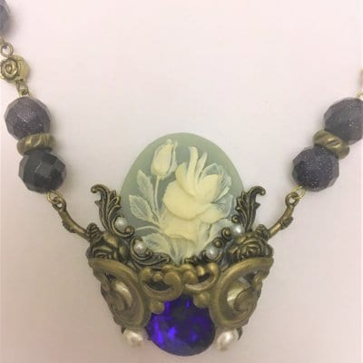 209F1-13 Blue Cameo Necklace 18,700 円(税込)送料込み