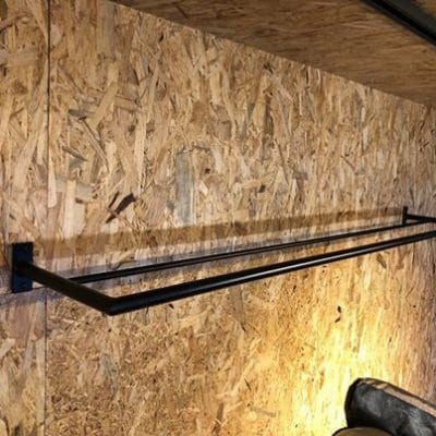 パイプハンガーラック/幅160cm×奥行25cm×高さ8cm