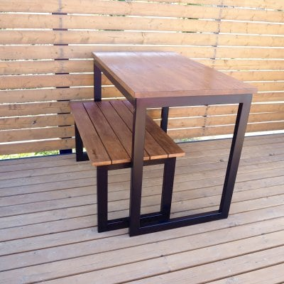 ダインニングテーブルに!ワークデスクに!オシャレなアイアンテーブル/幅100cm×奥行60cm×高さ76cm