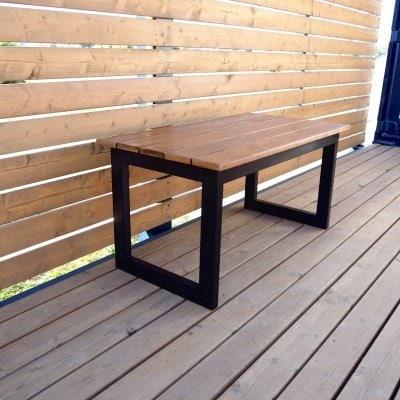 ダインニングベンチに!ガーデンベンチに!オシャレなアイアンベンチ/幅87...