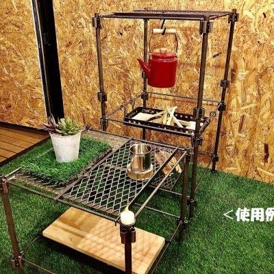数量限定2台 収納BOX付き アイアンラック〜cube∞〜/高さ52cm×幅51cm×...