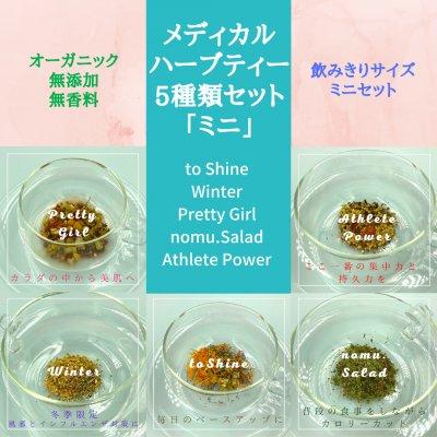 【当店人気ナンバー2】メディカルハーブティー5種類セット『ミニ』(オーガニックハーブ使用)