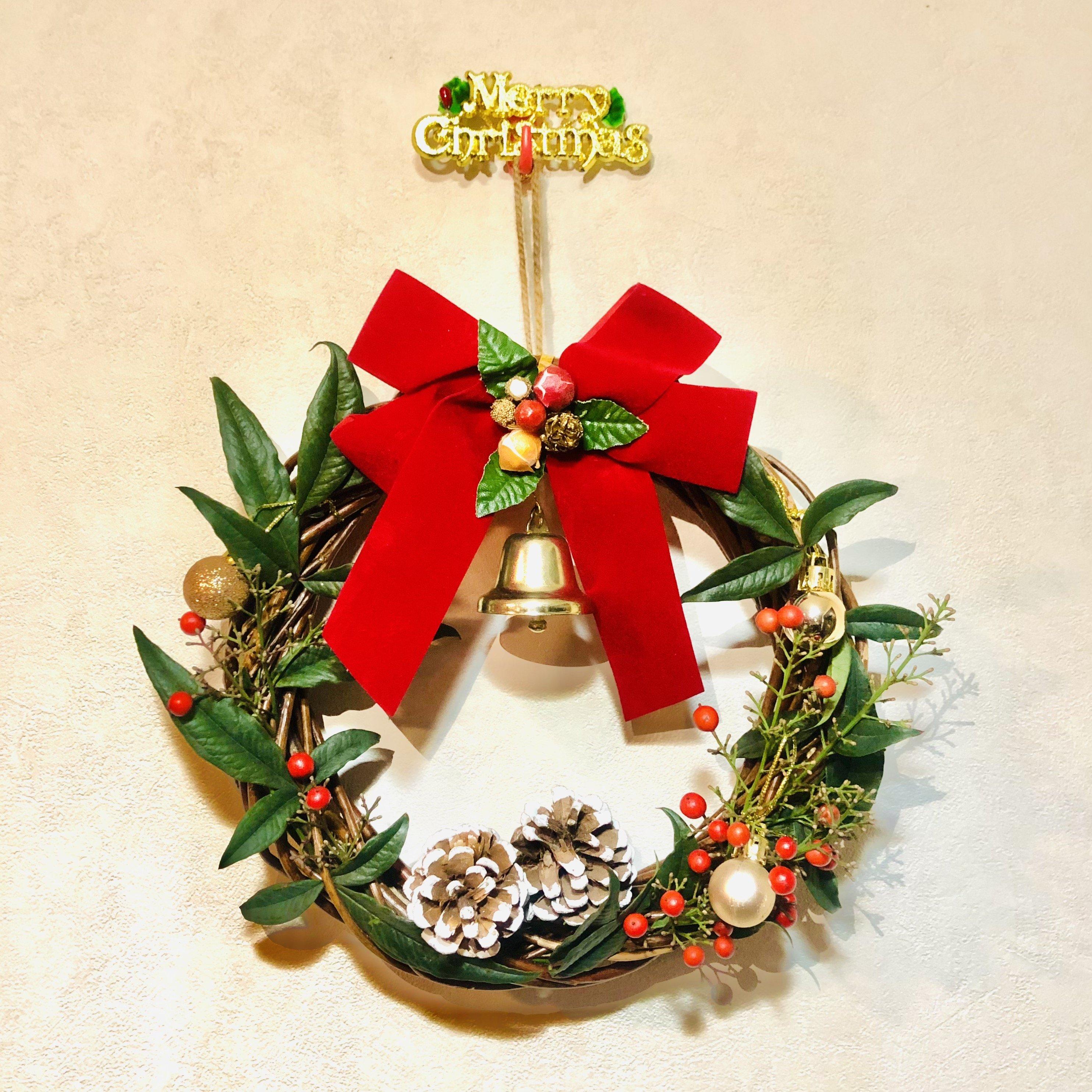 12/19(土)【オンラインzoomレッスン13:30〜14:30】✨ 英語レッスン✨🎅 サンタさんと一緒に クリスマスリースを作ろう 🎶🔔🎄イングリッシュ✬レシピ🎄のイメージその1