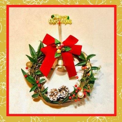 12/19(土)【オンラインzoomレッスン13:30〜14:30】✨ 英語レッスン✨🎅 サンタさんと一緒に クリスマスリースを作ろう 🎶🔔🎄イングリッシュ✬レシピ🎄