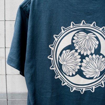 ハブマンTシャツ 青