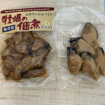 牡蠣の無添加佃煮150gと牡蠣の無添加柔らか燻製5粒入りセット 店頭渡し